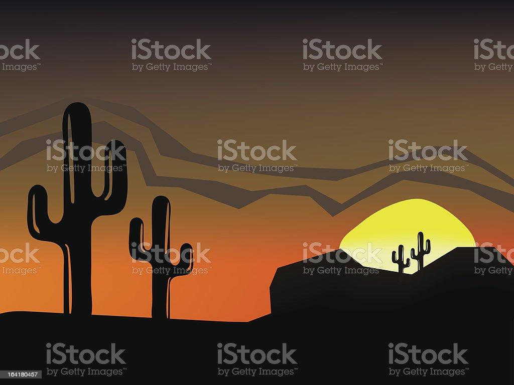 Desert royalty-free stock vector art