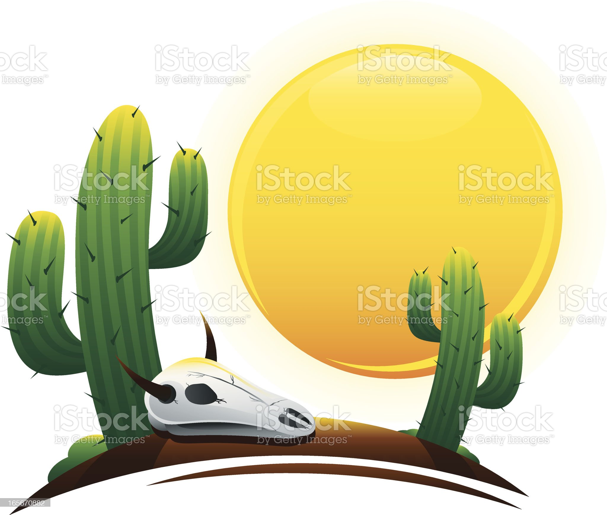 Desert Scene royalty-free stock vector art