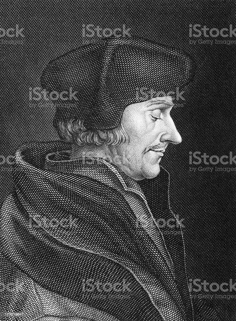 Desiderius Erasmus royalty-free stock vector art
