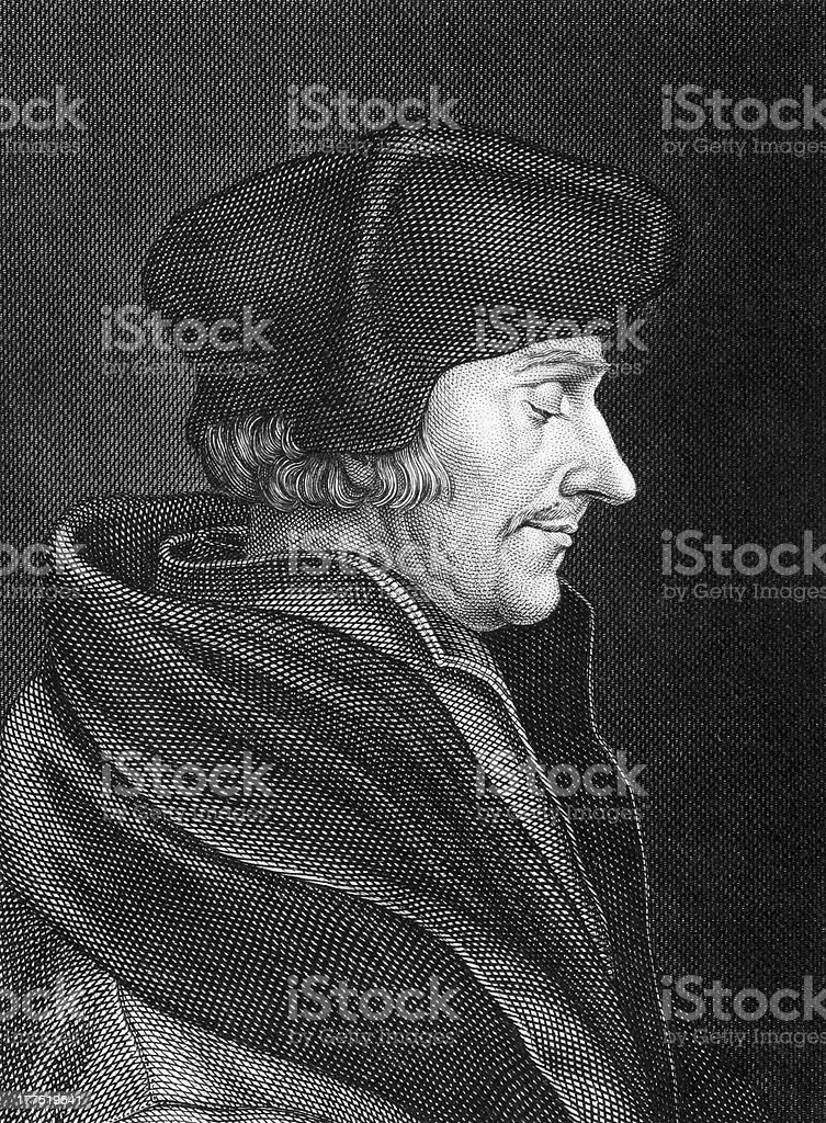Desiderius Erasmus vector art illustration