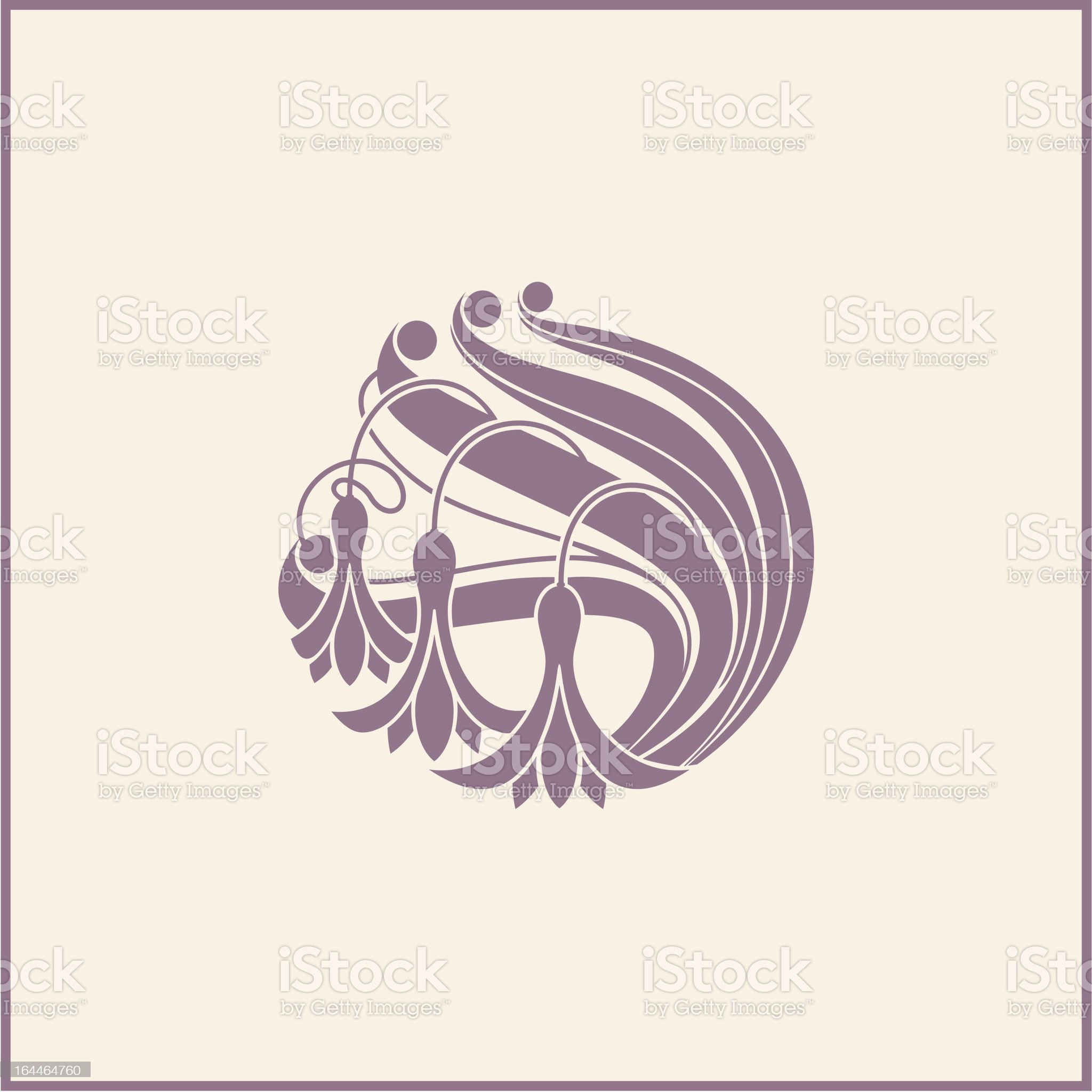 Design element in art nouveau style royalty-free stock vector art