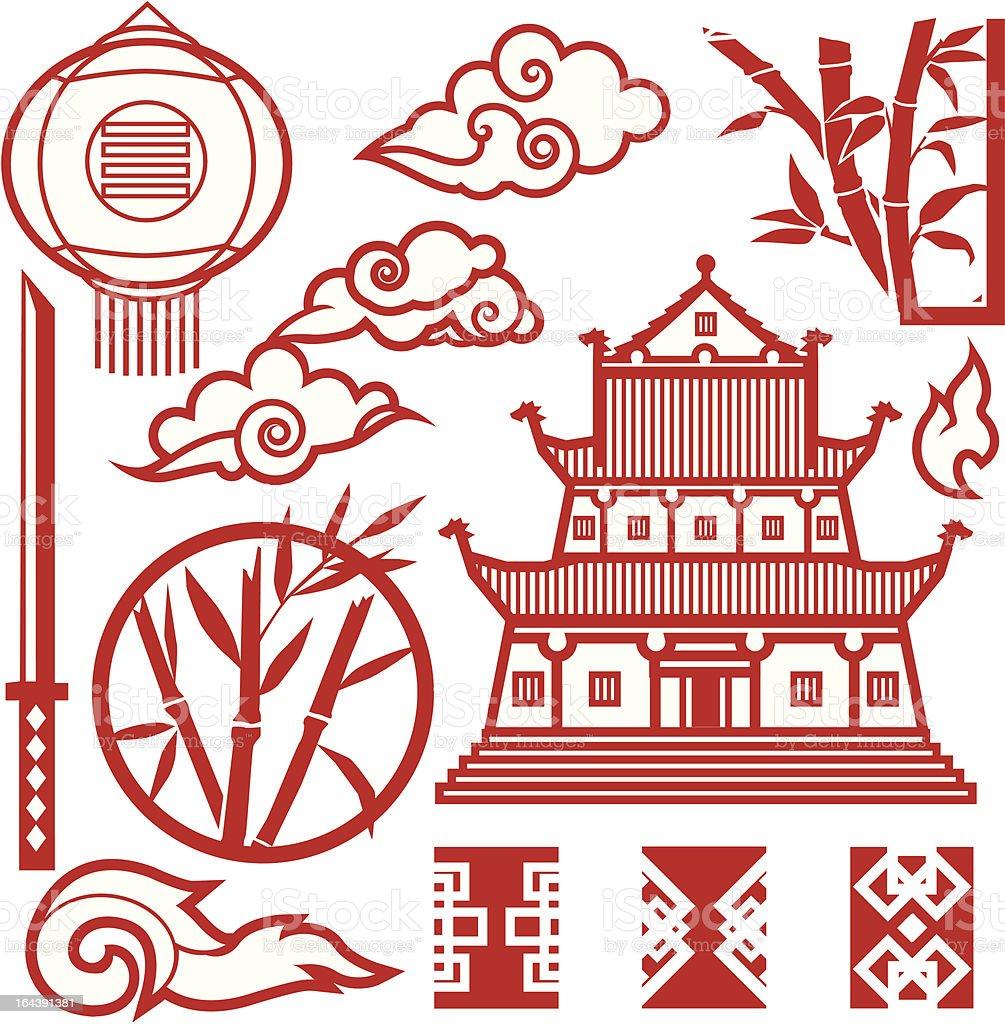 Design Elements - Far East vector art illustration