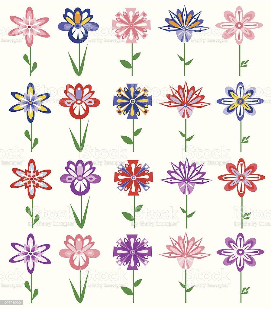 Design Elements - Flowers vector art illustration