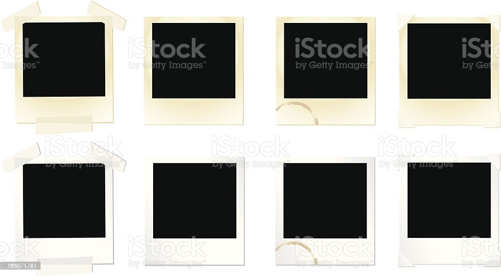 Design Elements: Photo Frame Set vector art illustration