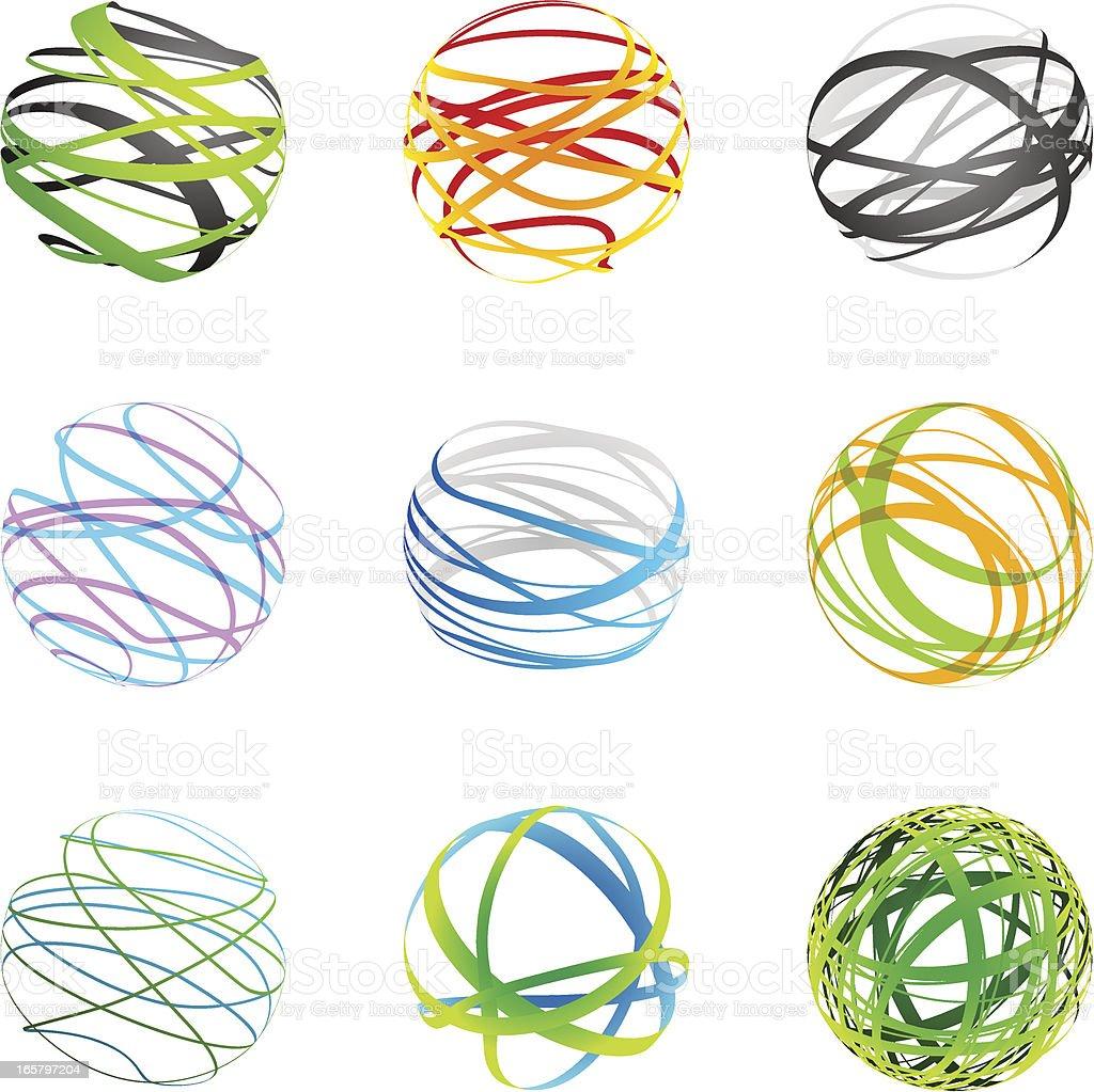 Design Elements - sphere set vector art illustration