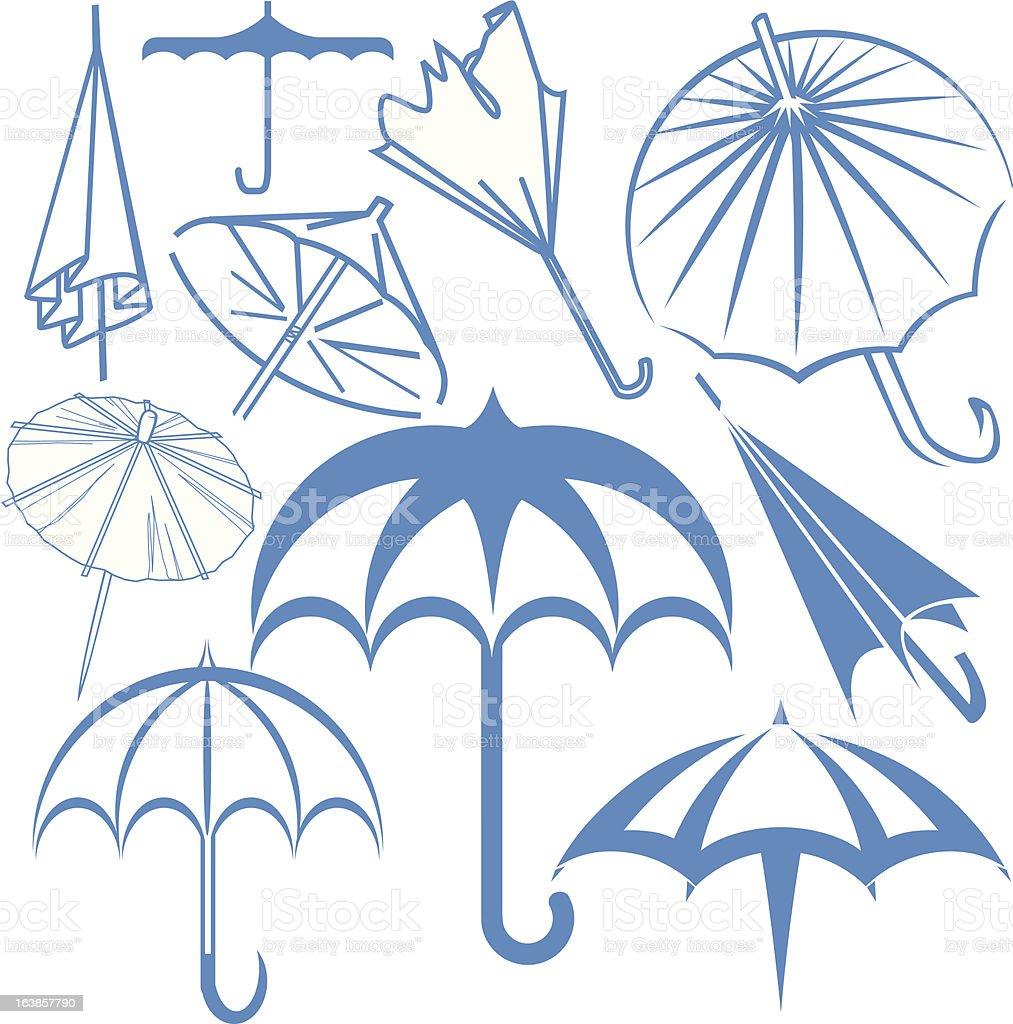 Design Elements - Umbrellas vector art illustration