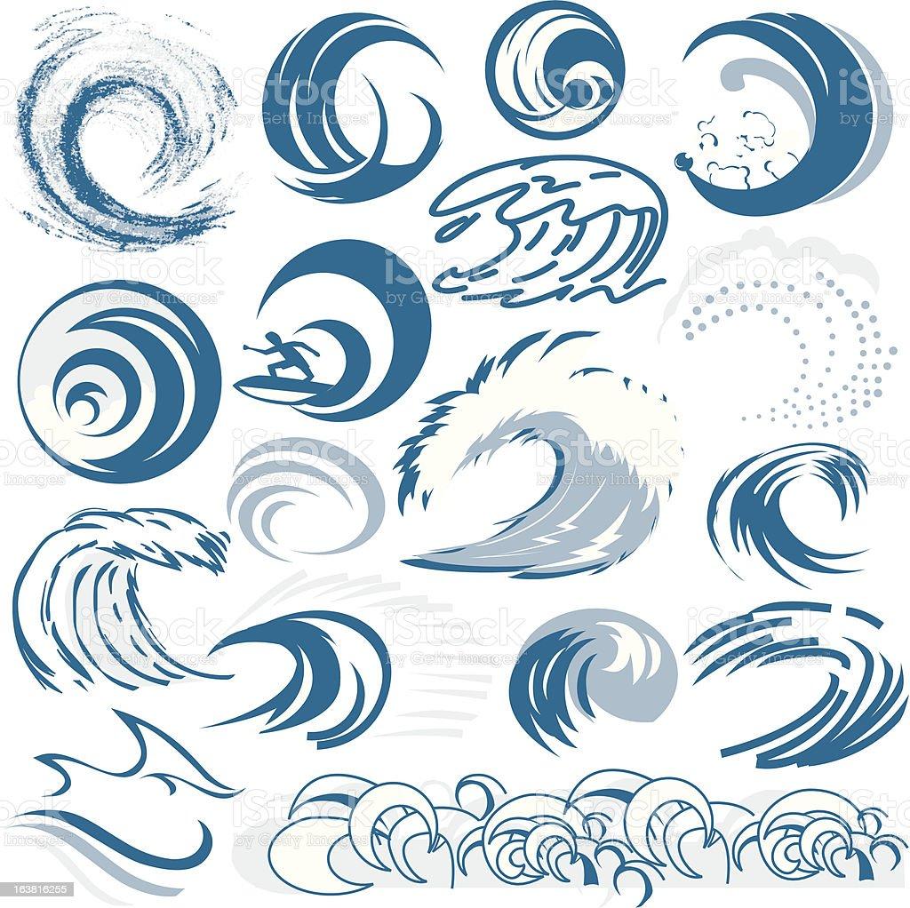 デザイン要素波 のイラスト素材 163816255 | iStock