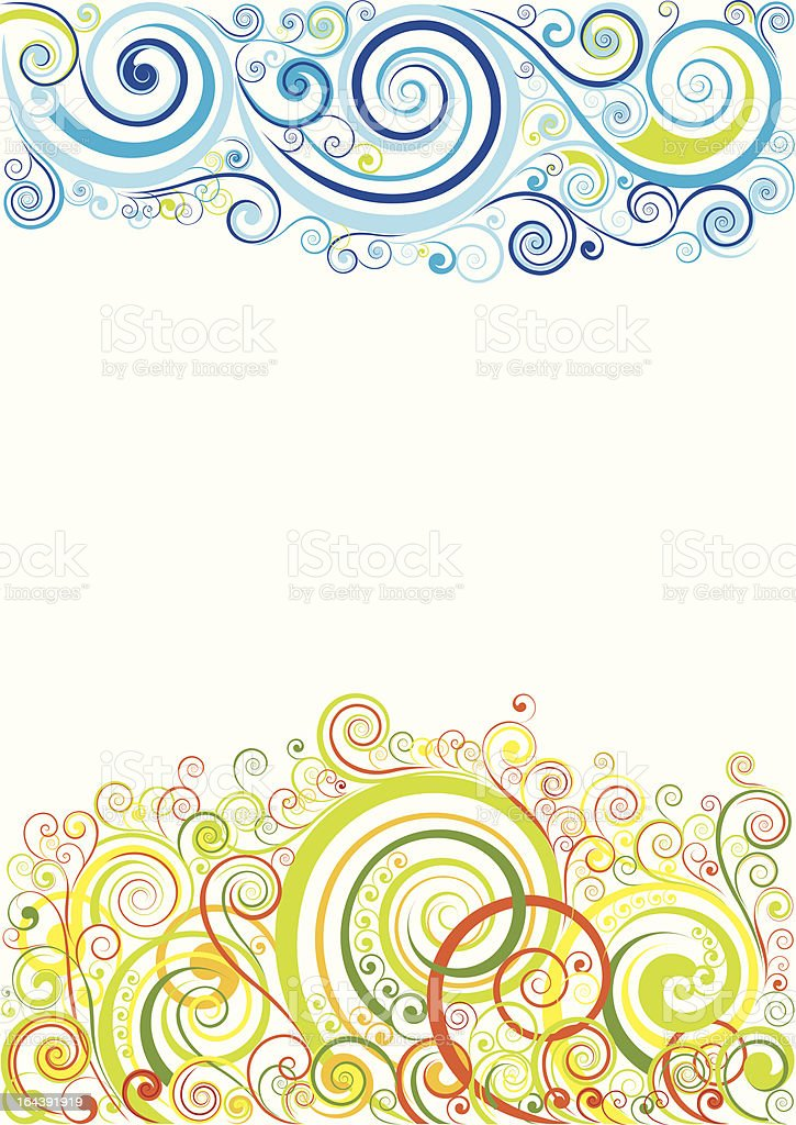 Design floral background royalty-free stock vector art