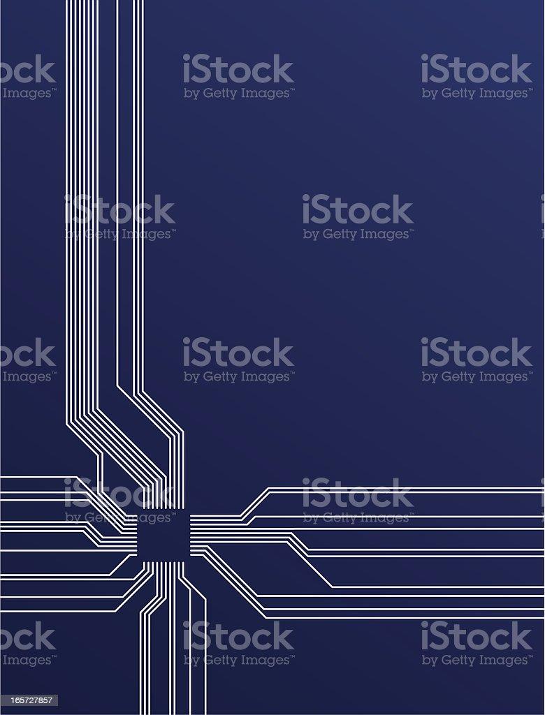 PCB design royalty-free stock vector art