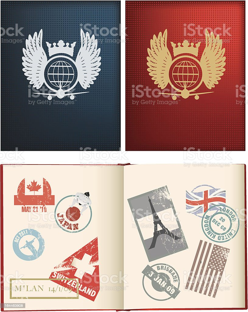 designs for a general not country specific passport vector art illustration