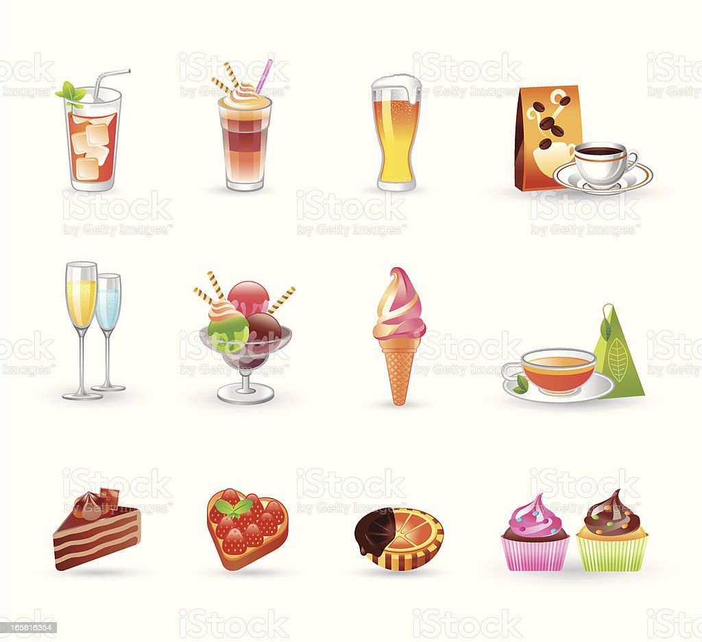 Dessert Icons | Gradient Series royalty-free stock vector art