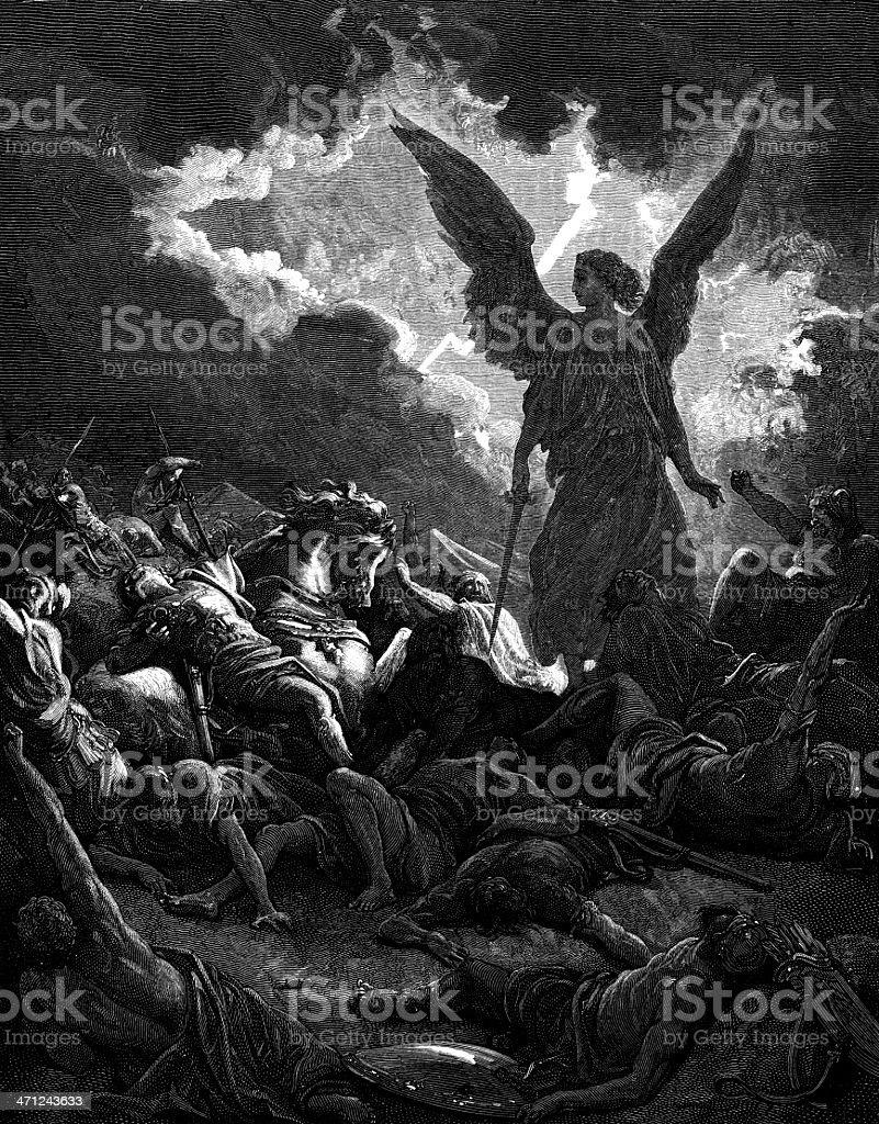 Destruction of  Sennacherib vector art illustration