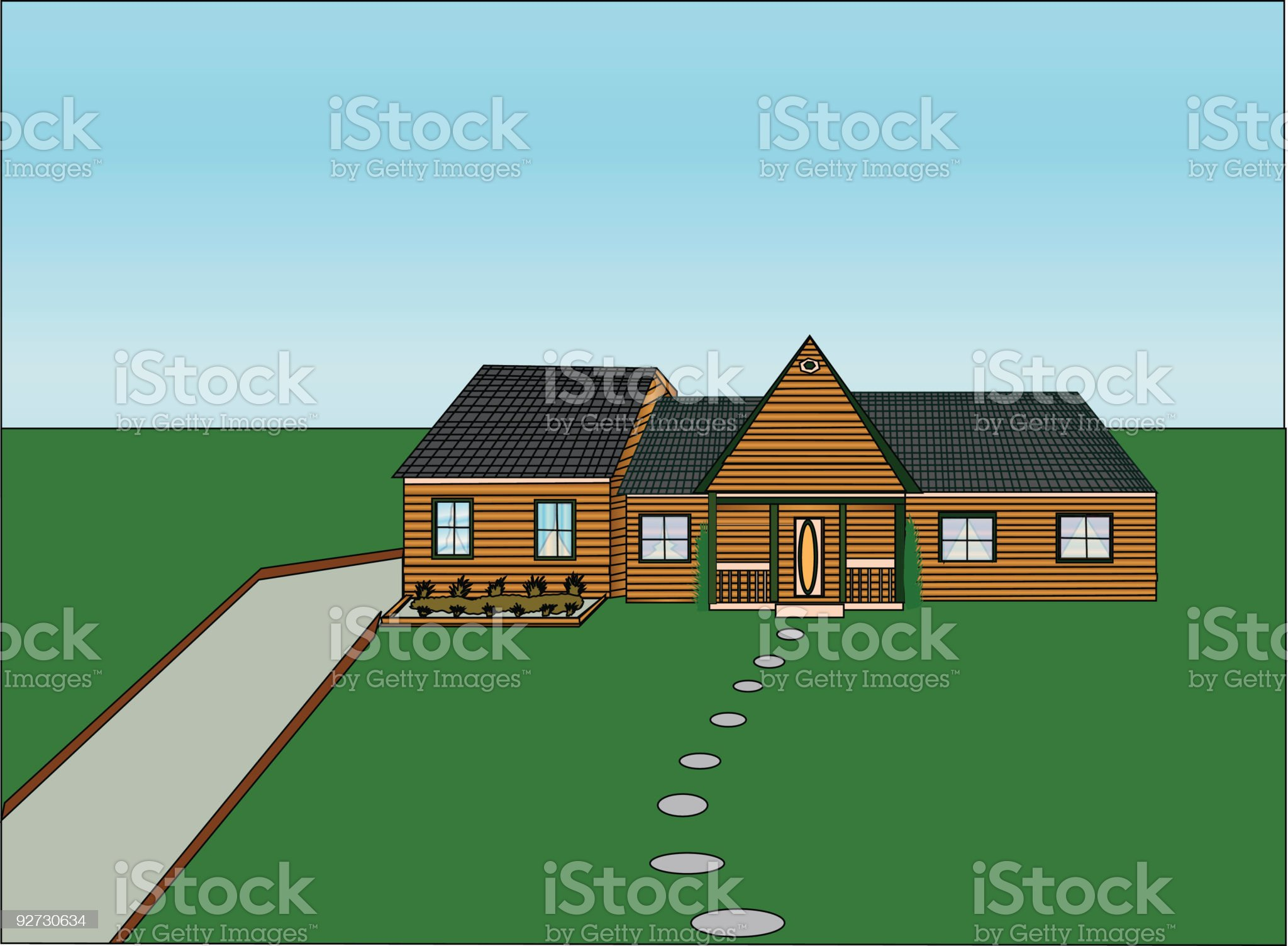 Detail country Estate- Vector royalty-free stock vector art