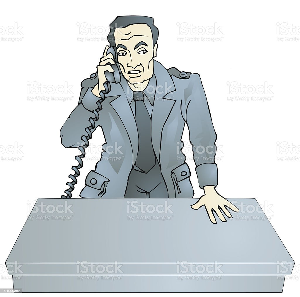 Detective on Phone royalty-free stock vector art
