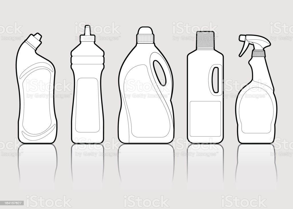 Detergents vector art illustration