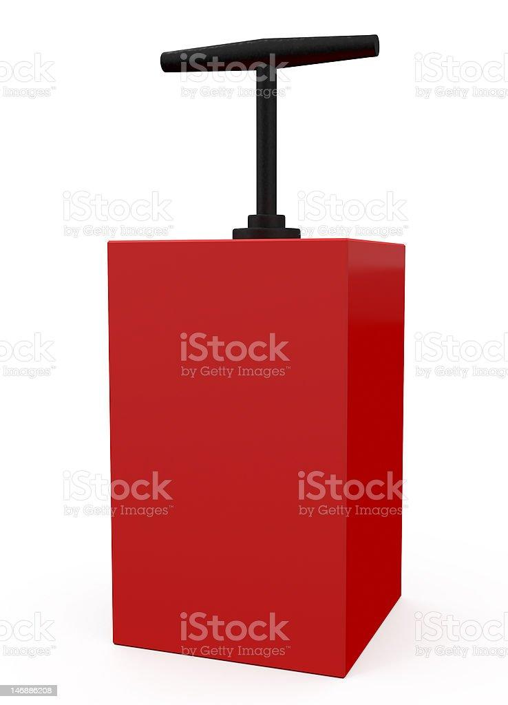 Detonator Red isolated on white royalty-free stock vector art