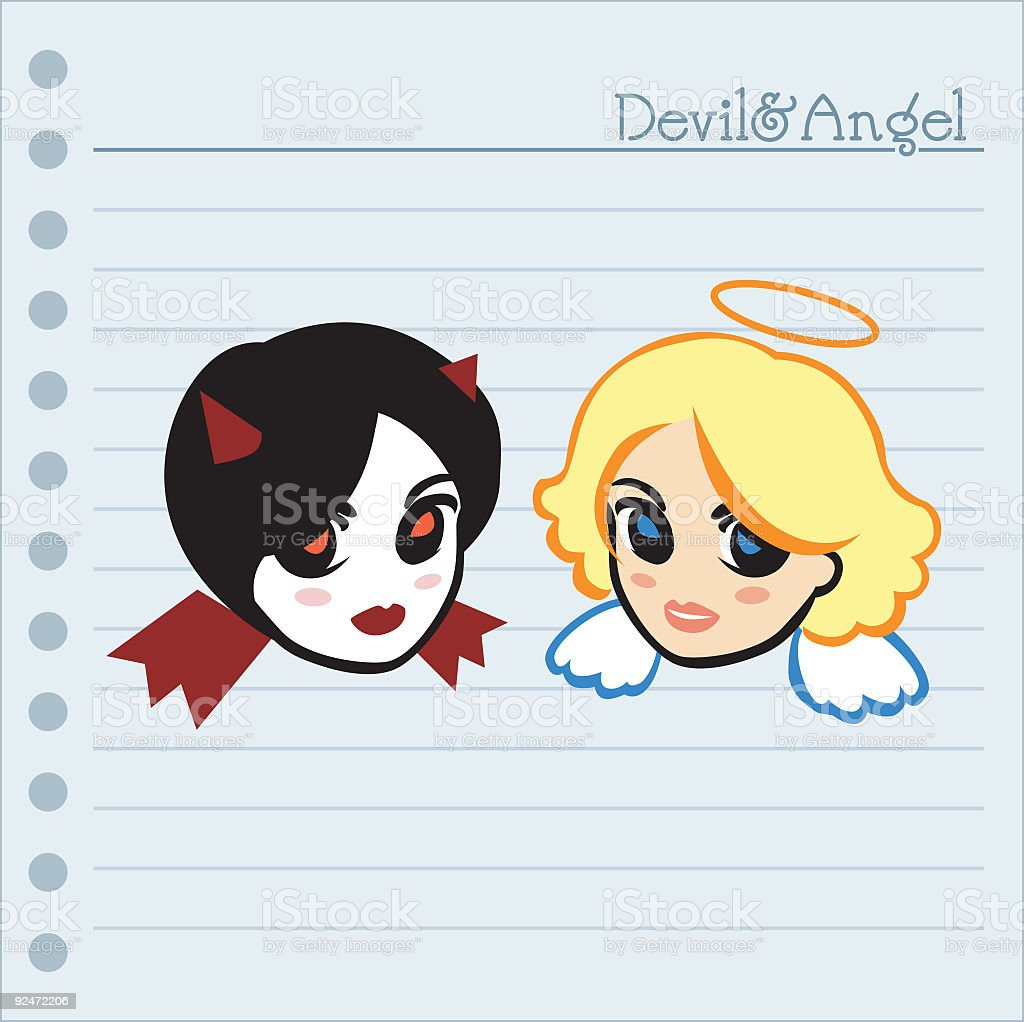 Devil and Angel royalty-free stock vector art