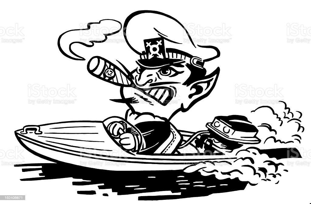 Devil Boat Captian royalty-free stock vector art
