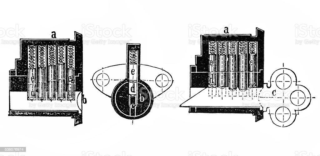 Diagram of a lock vector art illustration