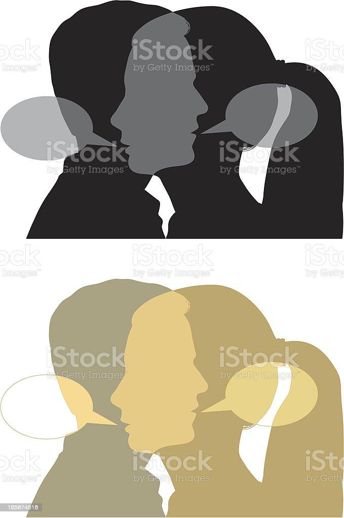 Dialogue two vector art illustration