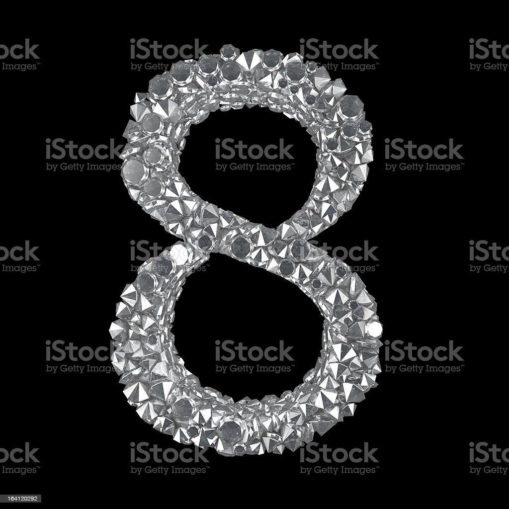 Diamond Number 8 royalty-free stock vector art