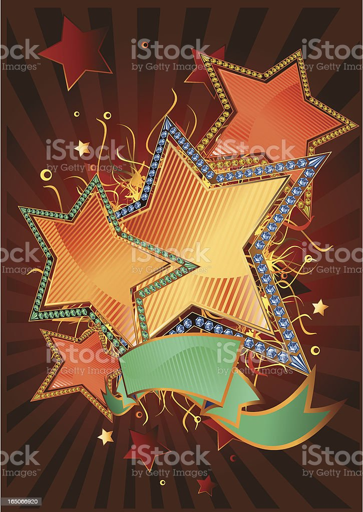 Diamond stars royalty-free stock vector art