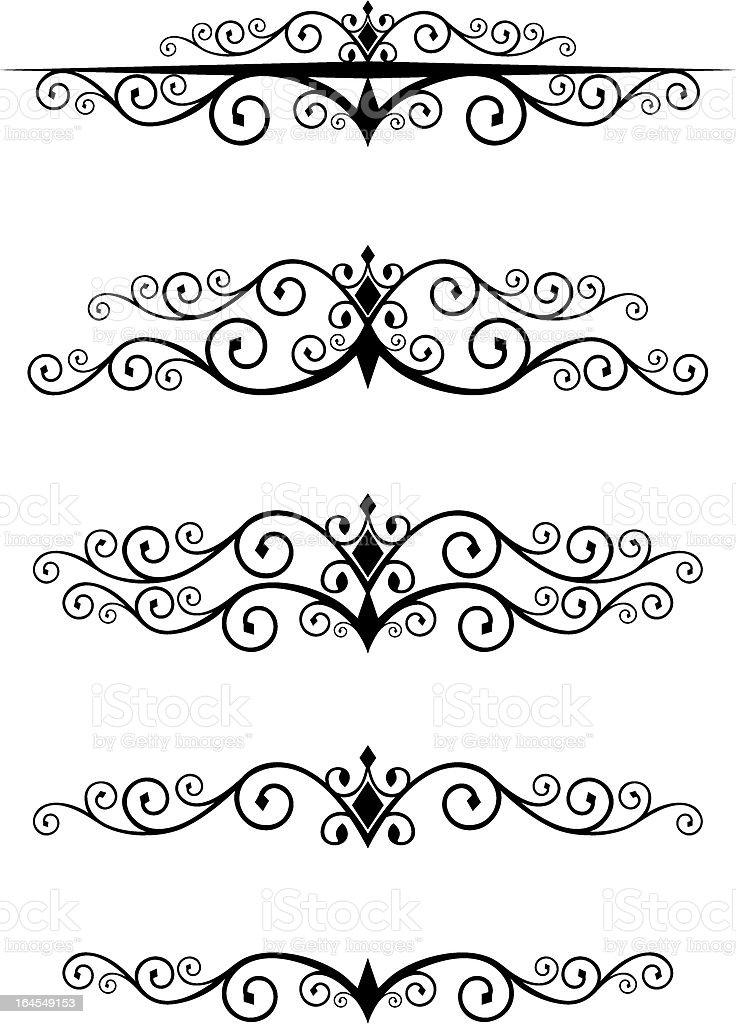 Diamond-motif Dividers royalty-free stock vector art