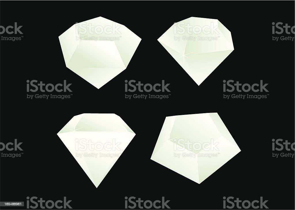 Diamonds vector art illustration