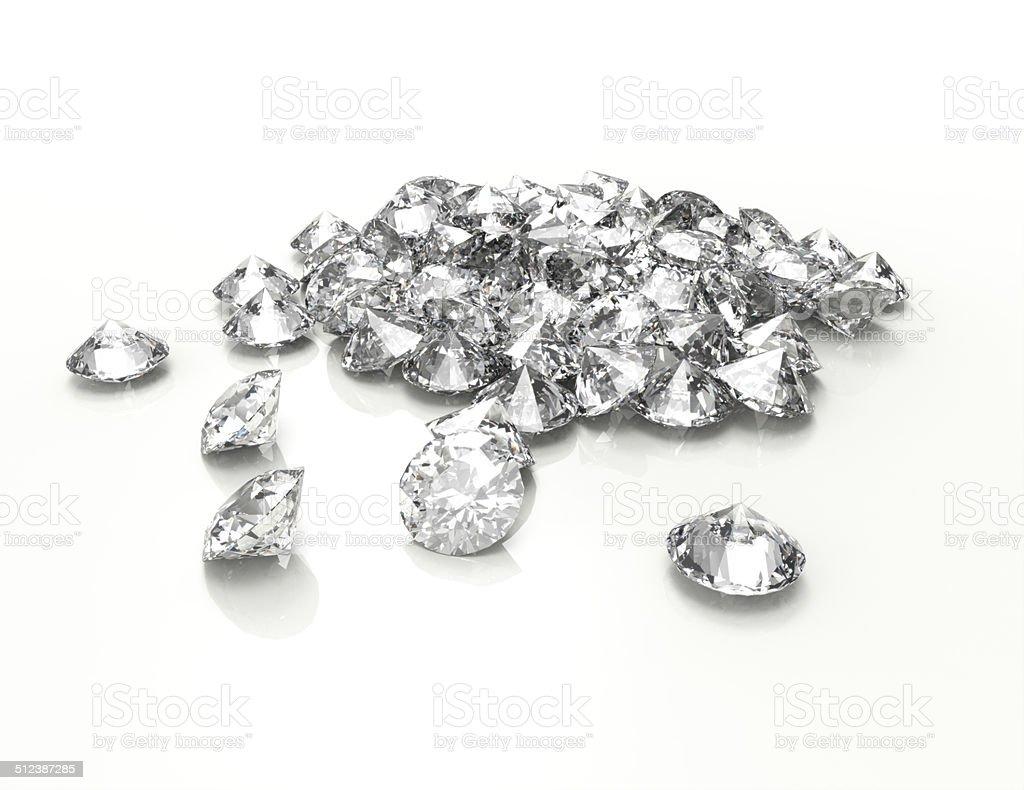 Diamonds vector art illustration