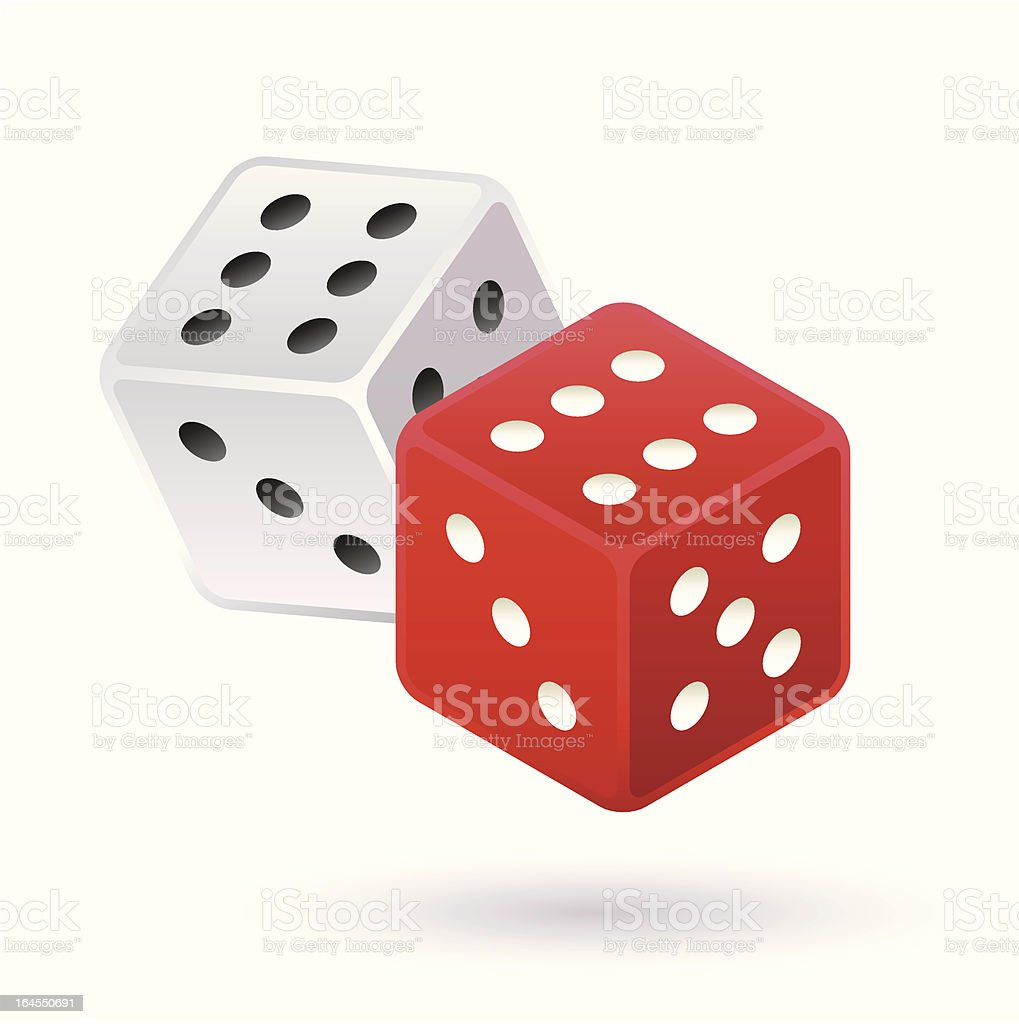 Dice game royalty-free stock vector art