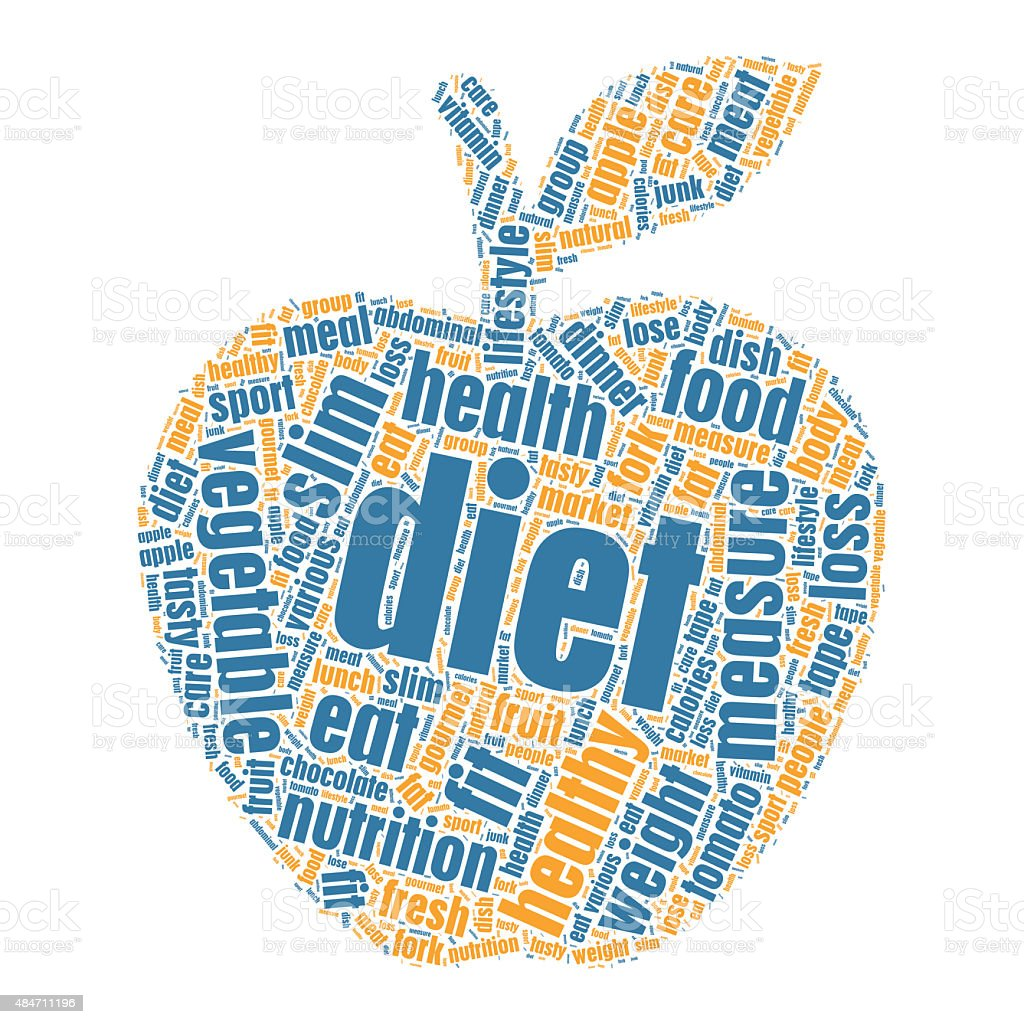 Diet Concept in Tag Cloud vector art illustration