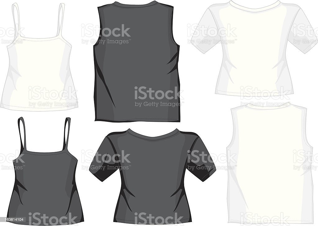 Different illustrated shirts royalty-free stock vector art