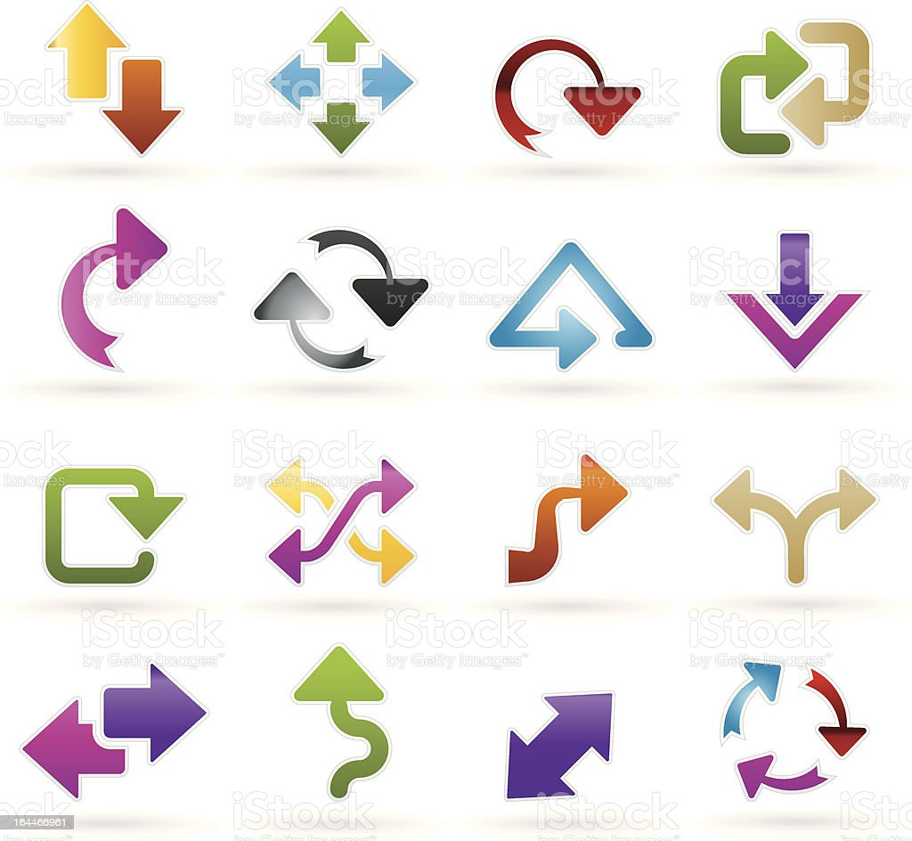 different kind of arrows icons vector art illustration