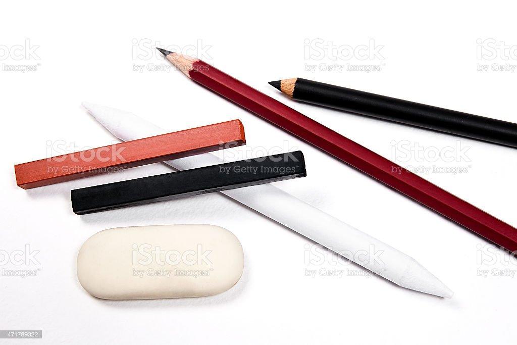 Diferentes tipos de herramientas de arte illustracion libre de derechos libre de derechos