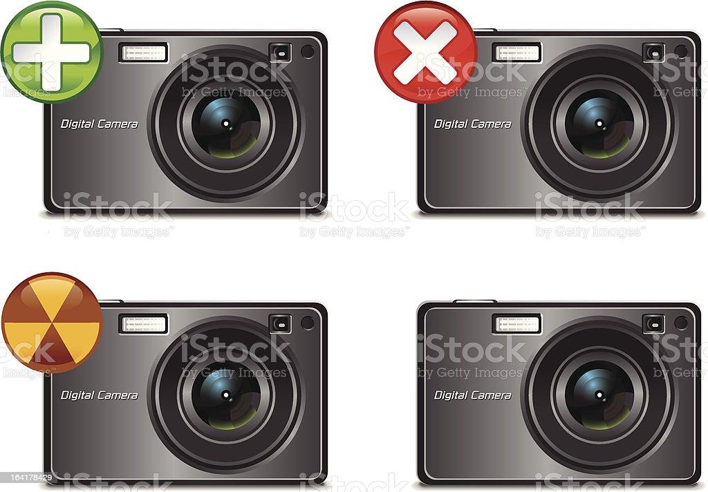 Digital Camera Icons royalty-free stock vector art