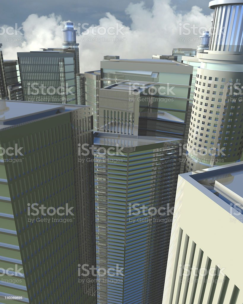 Digital CityScape royalty-free stock vector art