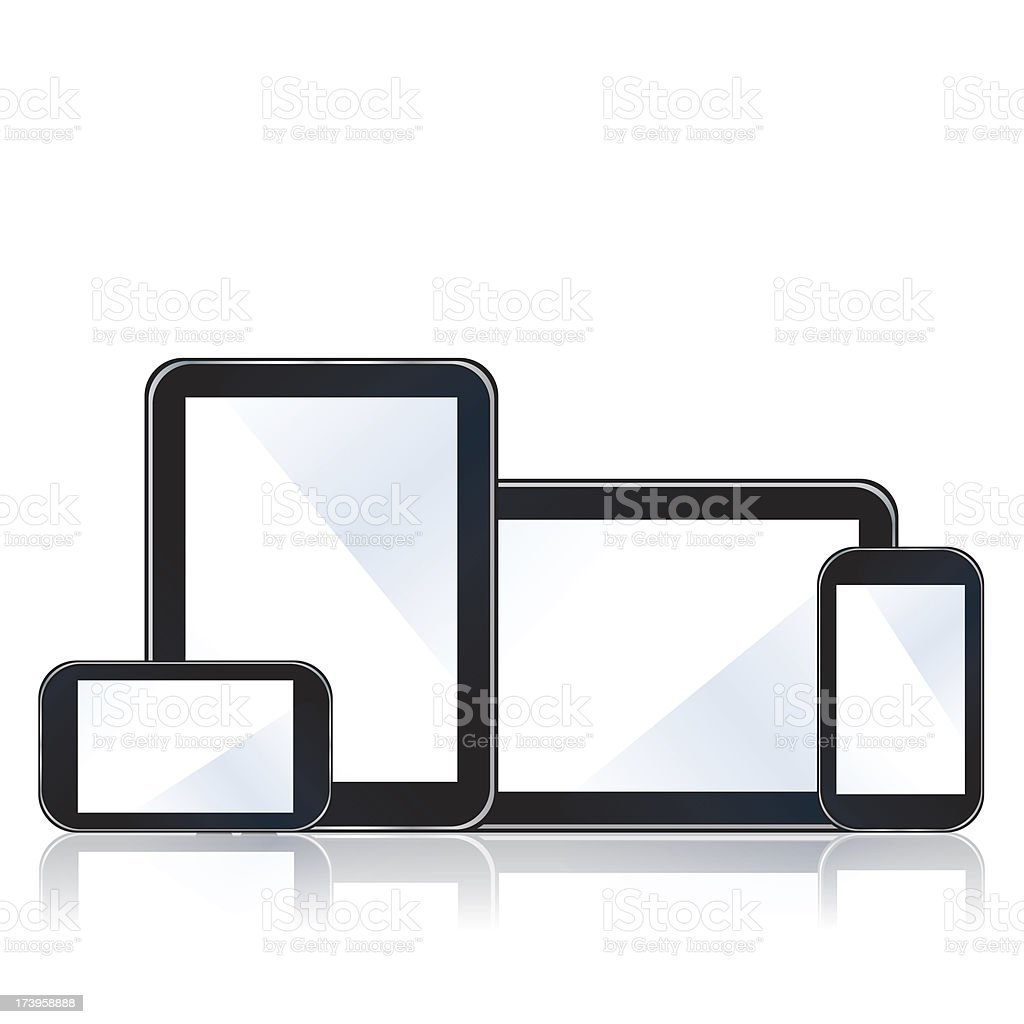 Digital devices royalty-free stock vector art