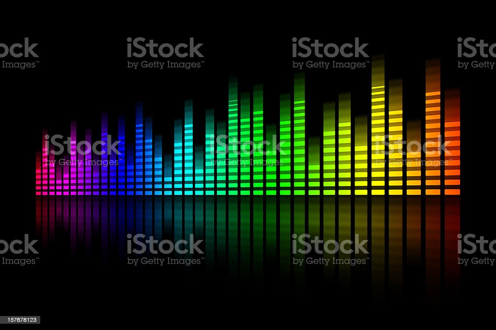 Digital equalizer with rainbow color royalty-free stock vector art