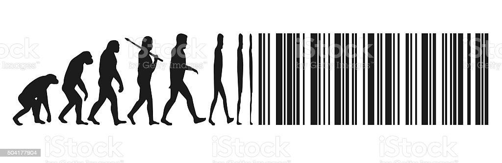 digital evolution vector art illustration