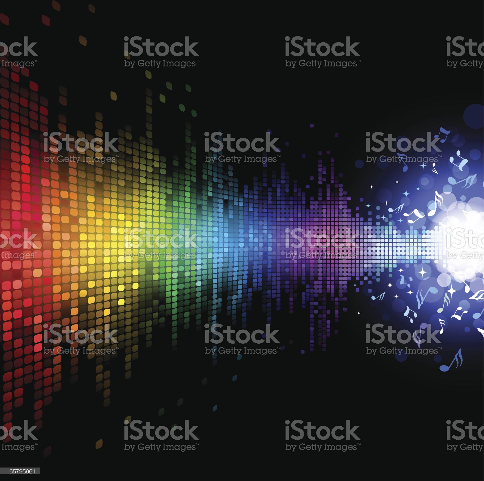 Digital Music Background royalty-free stock vector art
