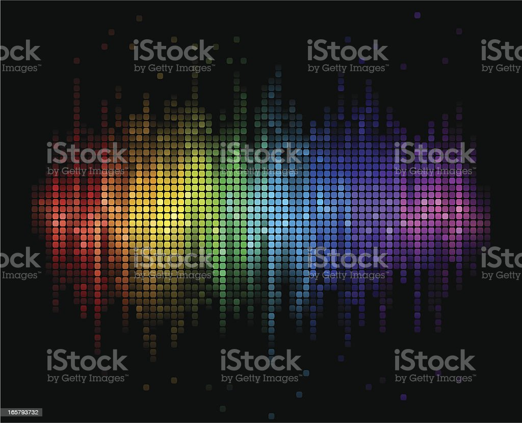 Digital Sound Background vector art illustration