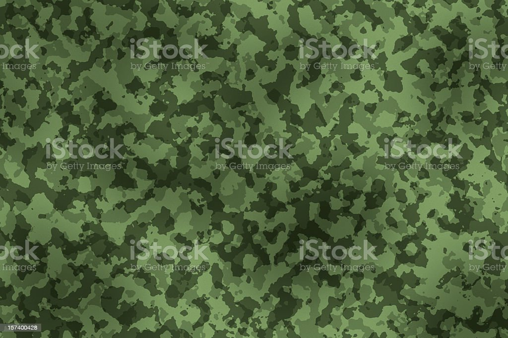 Digitally generated military camouflage fabric texture vector art illustration