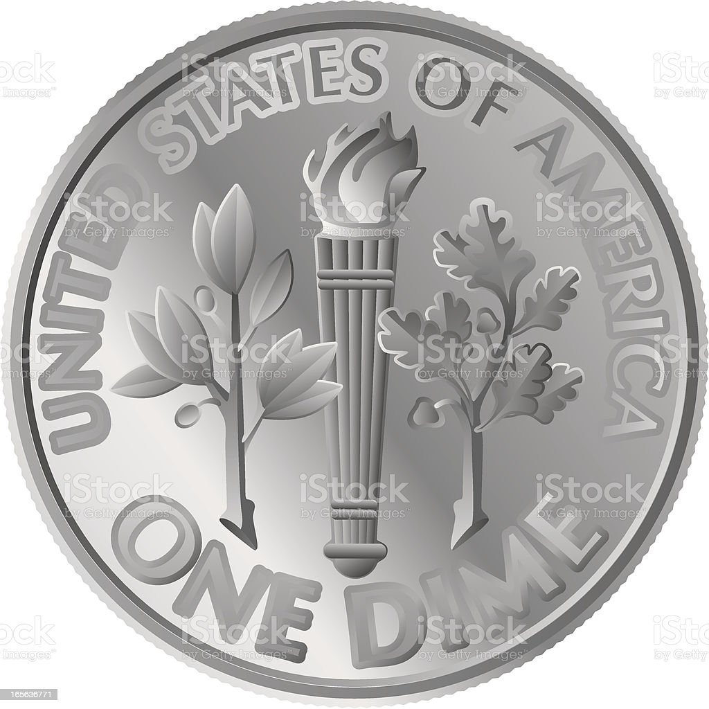 dime coin royalty-free stock vector art