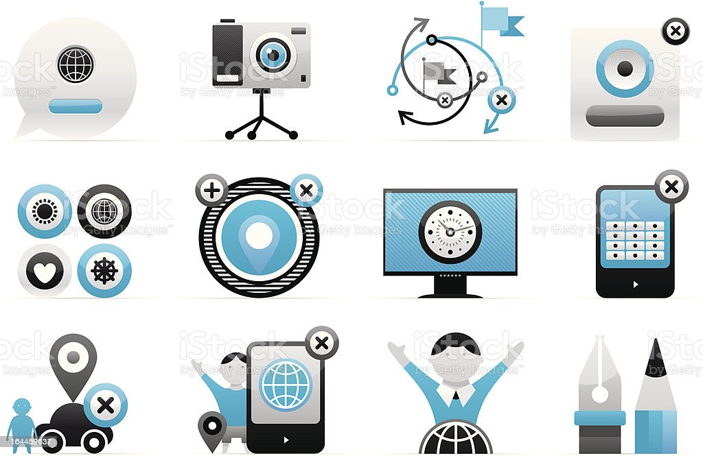dimensional vector icons royalty-free stock vector art