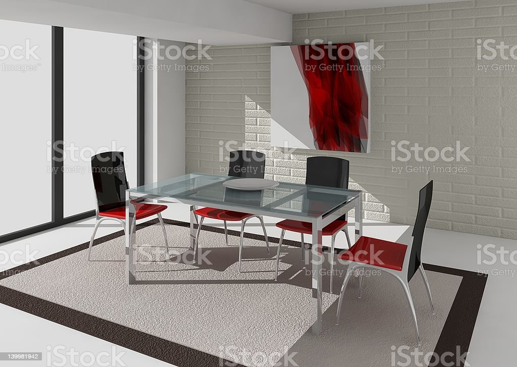 dining room royalty-free stock vector art