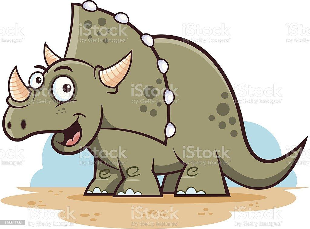 Dinosaur (Triceratops) royalty-free stock vector art