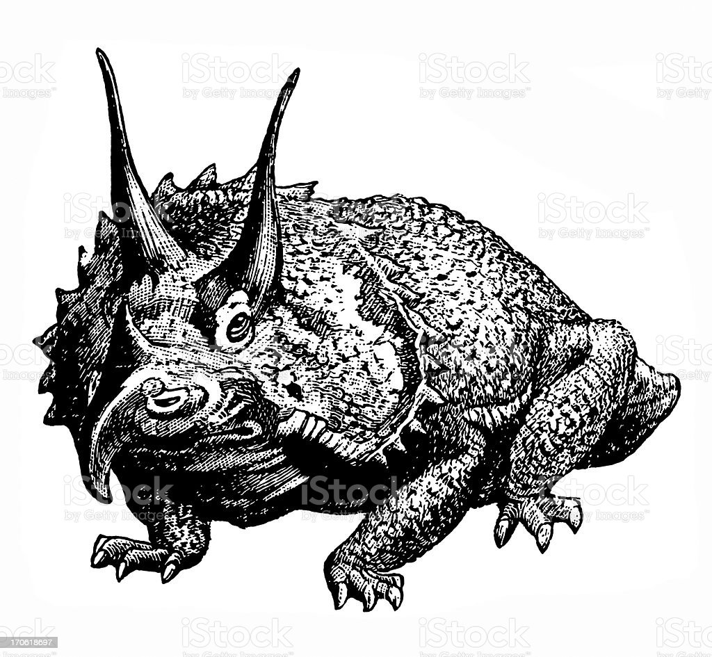 Dinosaur vector art illustration