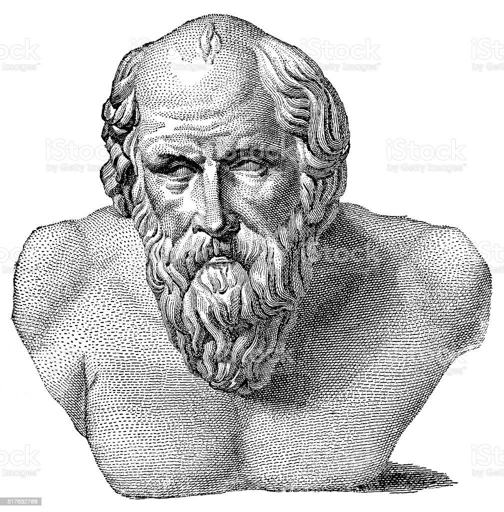 Diogenes - Greek Philosopher (Cynic) vector art illustration
