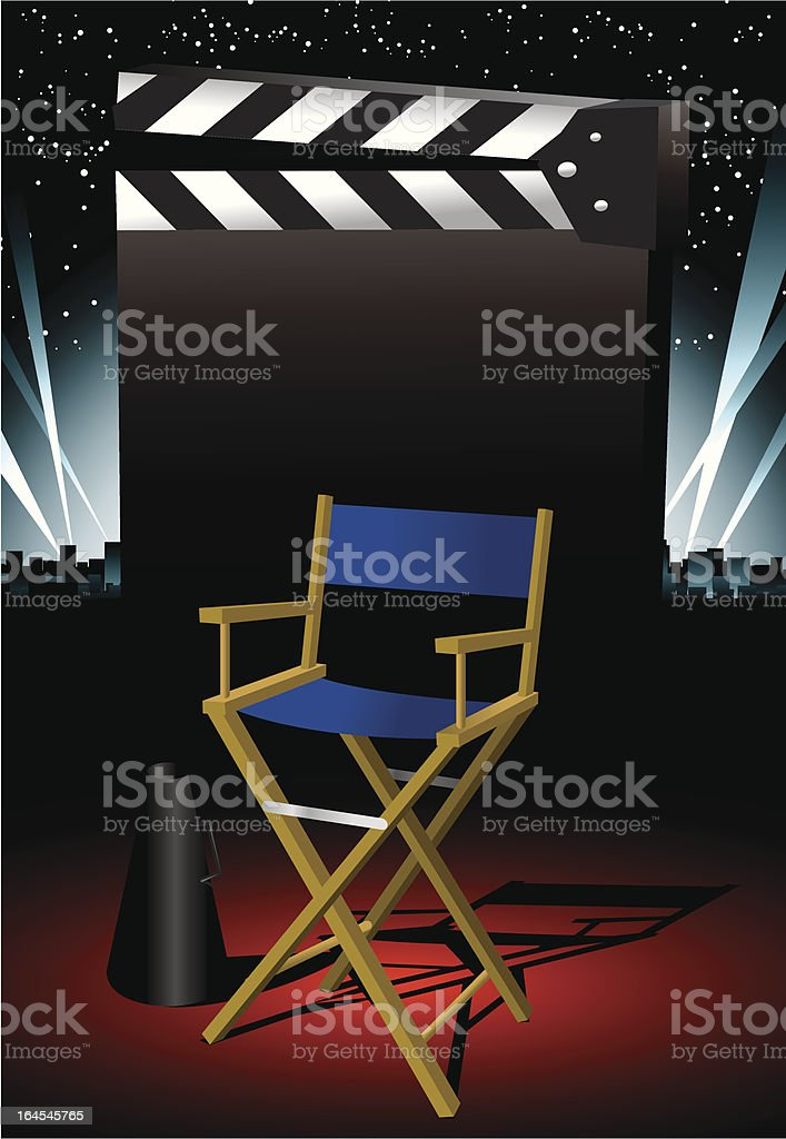 Director Chair royalty-free stock vector art