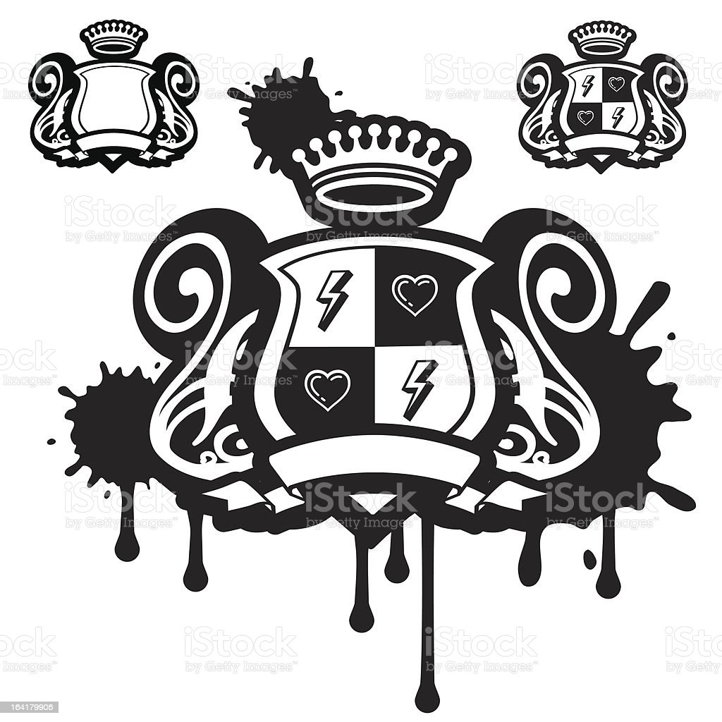 Dirty Coat Of Arms royalty-free stock vector art